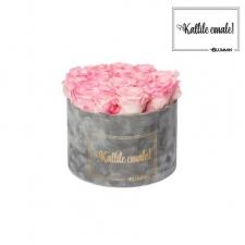 KALLILE EMALE - LARGE (17 ROOSIGA) HELEHALL SAMETKARP LOVELY PINK ROOSIDEGA