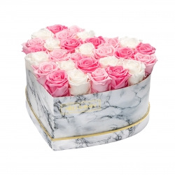 MARBLE FLOWERBOX WITH 29-31 MIX ROSES