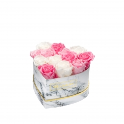 MARBLE FLOWERBOX WITH 13 MIX ROSES