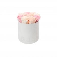 MEDIUM BLUMMiN - VALGE SAMETKARP MIX (ICE PINK, PEACHY PINK, BRIDAL PINK) ROOSIDEGA