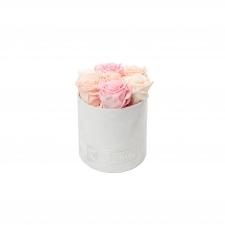 SMALL BLUMMiN VALGE SAMETKARP MIX (ICE PINK, PEACHY PINK, BRIDAL PINK) ROOSIDEGA