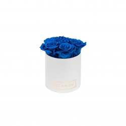 MIDI BLUMMiN - WHITE BOX WITH OCEAN BLUE ROSES
