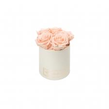 MIDI BLUMMIN CREAMY BOX WITH PEACHY PINK ROSES