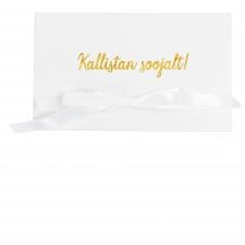 KALLISTAN SOOJALT - VALGE SAMETIST KAART