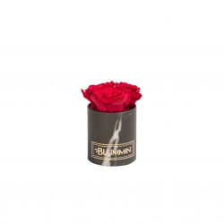 XS BLACK MARBLE BOX WITH ROSEBERRY ROSES
