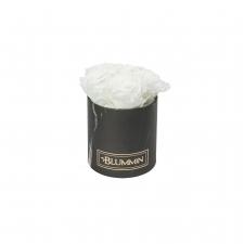 MIDI BLUMMIN BLACK MARBLE BOX WITH WHITE ROSES