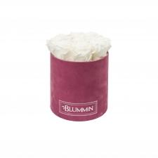 MEDIUM BLUMMiN - LIGHT PURPLE VELVET BOX WITH WHITE ROSES