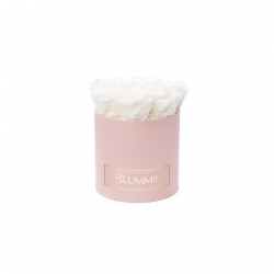 SMALL BLUMMiN - LIGHT PINK BOX WITH WHITE ROSES