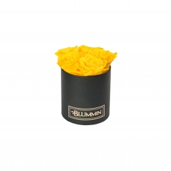 BLUMMIN MIDI BLACK BOX WITH  YELLOW ROSES