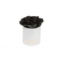 MIDI WHITE BOX WITH BLACK ROSES