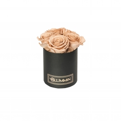 BLUMMIN MIDI BLACK BOX WITH CAPPUCCINO ROSES