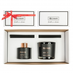 GIFT BOX WINTER SPECIAL - HOME FRAGRANCE & SCENTED SOY WAX CANDLE (BLACK)