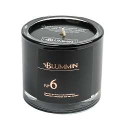BLUMMIN BLACK SCENTED SOY WAX CANDLE 200g - No 6