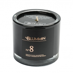 BLUMMiN BLACK SCENTED SOY WAX CANDLE 200g - Nr 8