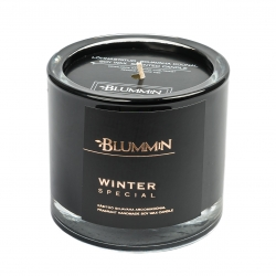 BLUMMIN BLACK SCENTED SOY WAX CANDLE 200g - WINTER SPECIAL