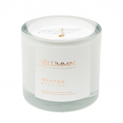 BLUMMiN WHITE SCENTED SOY WAX CANDLE 200g - WINTER SPECIAL