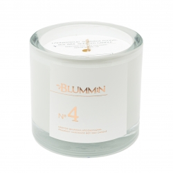 BLUMMiN WHITE SCENTED SOY WAX CANDLE 200g - Nr 4