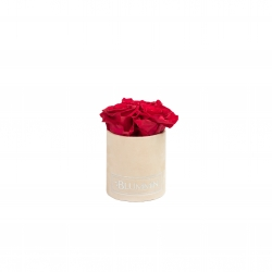 XS BLUMMiN - NUDE VELVET BOX WITH ROSEBERRY ROSES