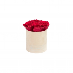 MIDI BLUMMiN - NUDE VELVET BOX WITH ROSEBERRY ROSES