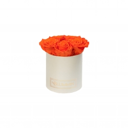 MIDI BLUMMiN - CREAMY BOX WITH ORANGE ROSES