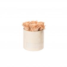 SMALL BLUMMiN - nude sametkarp CAPPUCCINO roosidega