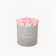 MEDIUM BLUMMiN - helehall karp BRIDAL PINK roosidega