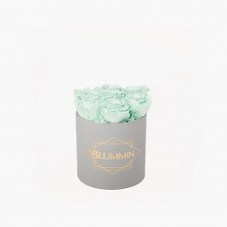 SMALL BLUMMiN - LIGHT GREY BOX WITH MINT ROSES