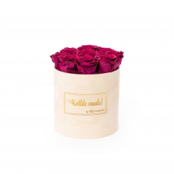 MEDIUM Kallile emale NUDE BOX WITH CHERRY ROSES